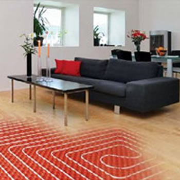 Underfloor radiant heating for homes
