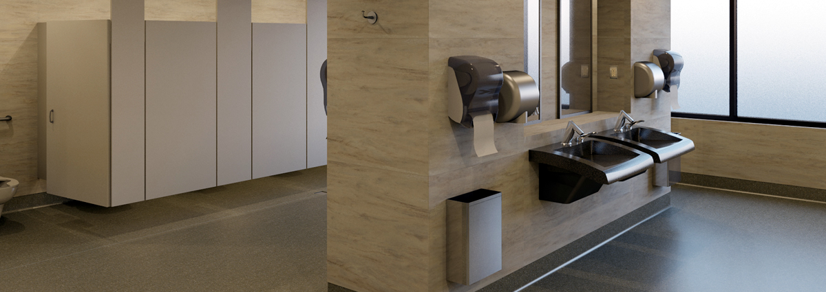 Modern commerical bathrooms