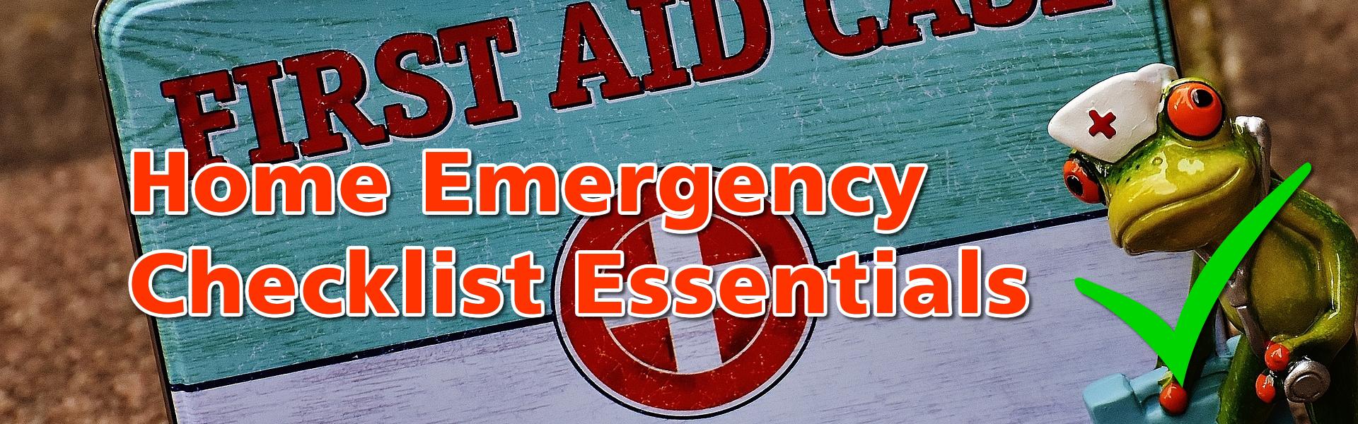 Home Emergency Checklist Essentials