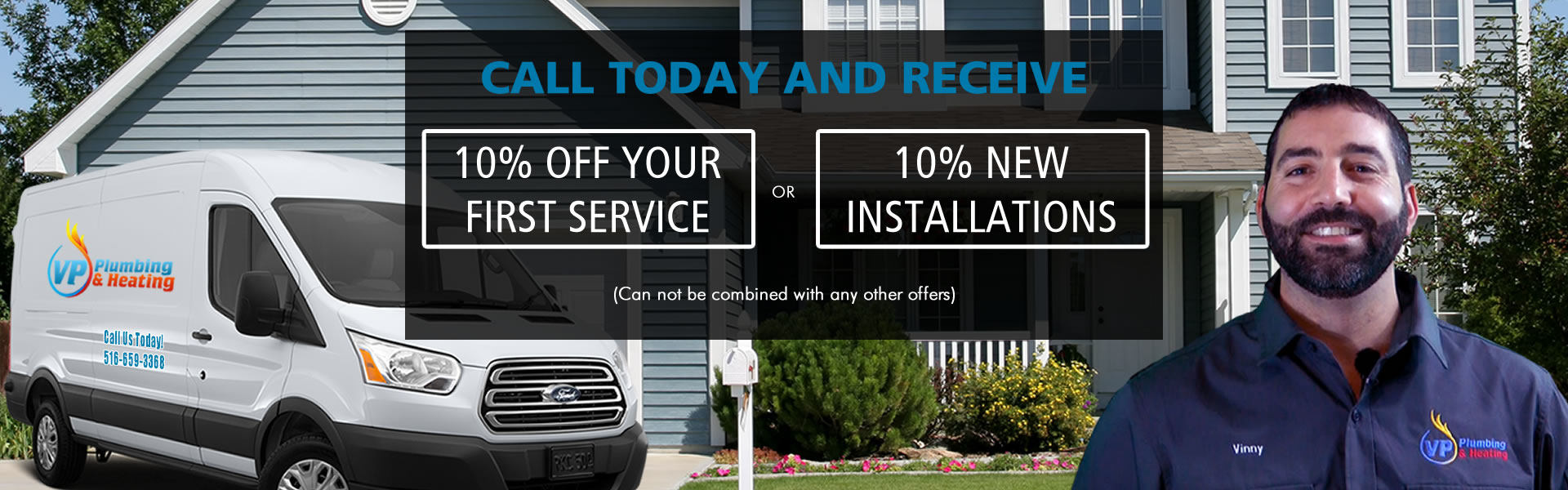 10 % Off Plumbing Services Promotion